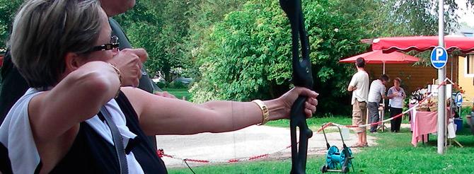 tir à l'arc au camping