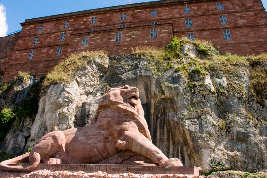 Le Chateau et le lion de Belfort