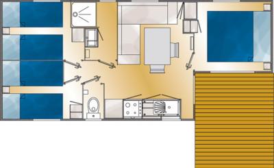 Plan d'aménagement du Mobilhome Déclik