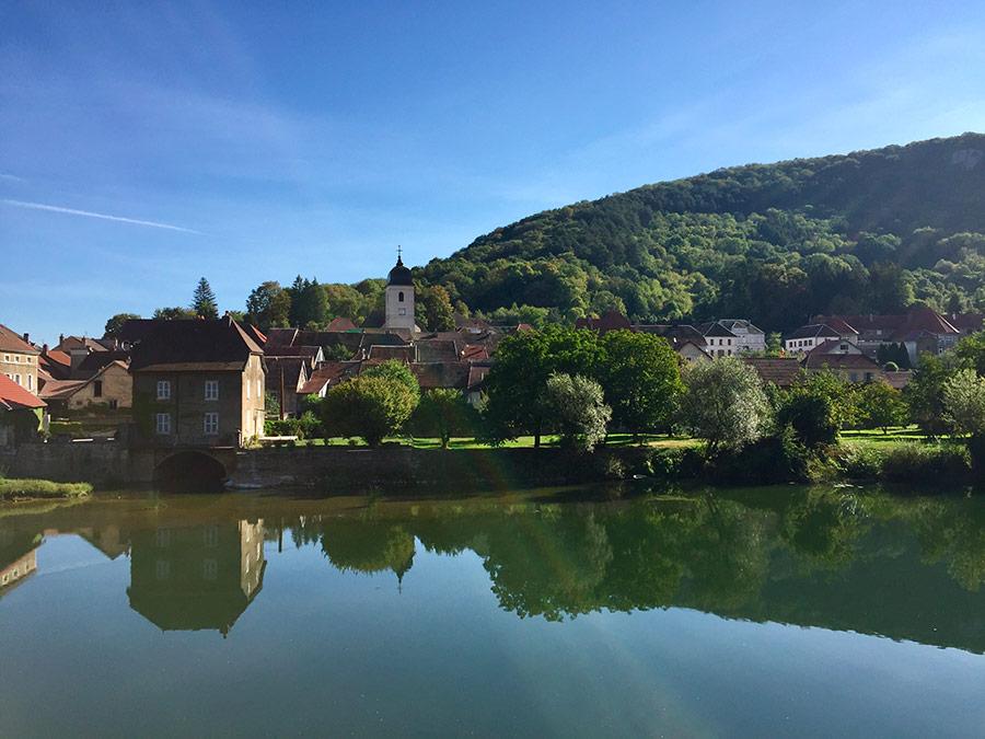 randonnée cyclo du camping de Belfort à Laissey et L'Isles sur le Doubs